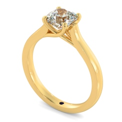 HRC886 Cushion Solitaire Crossover Diamond Ring - yellow