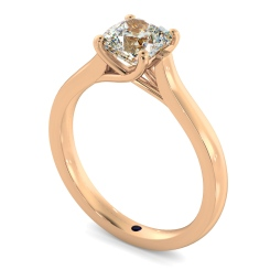 HRC886 Cushion Solitaire Crossover Diamond Ring - rose