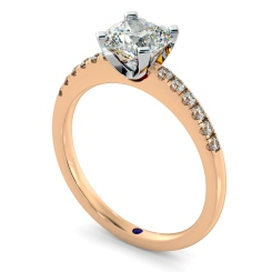 HRCSD880 Cushion Shoulder Diamond Ring - rose