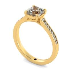 HRCSD882 Cushion Shoulder Diamond Ring - yellow