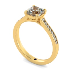 HRCSD882 Cushion Shoulder Diamond Ring - yellow