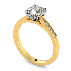 HRCSD883 Cushion Shoulder Diamond Ring - yellow