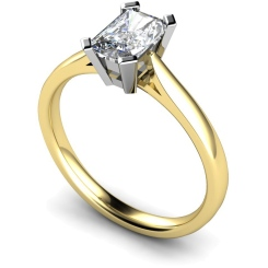 HRE274 Emerald Solitaire Diamond Ring - yellow