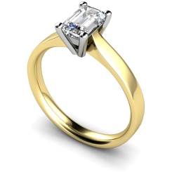 HRE318 Emerald Solitaire Diamond Ring - yellow