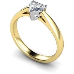 HRH278 Heart Solitaire Diamond Ring - yellow