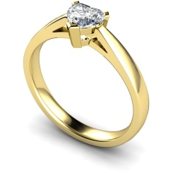 HRH278 Heart Solitaire Diamond Ring - yellow