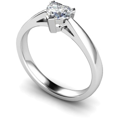 HRH278 Heart Solitaire Diamond Ring - white