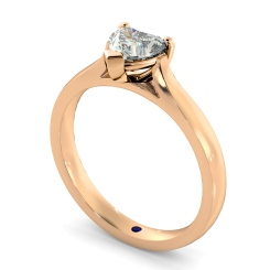 HRH441 Heart Solitaire Diamond Ring - rose