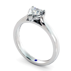 HRH441 Heart Solitaire Diamond Ring - white