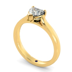 HRH441 Heart Solitaire Diamond Ring - yellow
