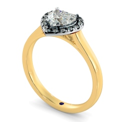 HRHSD847 Heart Halo Diamond Ring - yellow