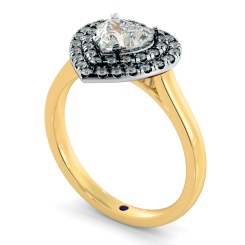 HRHSD848 Heart Halo Diamond Ring - yellow