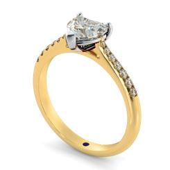 HRHSD878 Heart Shoulder Diamond Ring - yellow