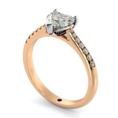 HRHSD878 Heart Shoulder Diamond Ring - rose