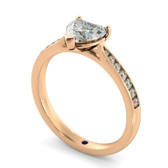 HRHSD879 Heart Shoulder Diamond Ring - rose