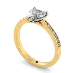 HRHSD879 Heart Shoulder Diamond Ring - yellow