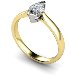 HRM288 Marquise Solitaire Diamond Ring - yellow
