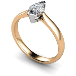 HRM288 Marquise Solitaire Diamond Ring - rose