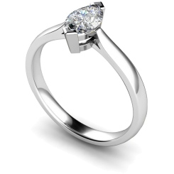 HRM288 Marquise Solitaire Diamond Ring - white
