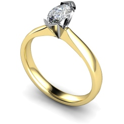 HRM309 Marquise Solitaire Diamond Ring - yellow