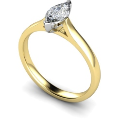 HRM346 Marquise Solitaire Diamond Ring - yellow