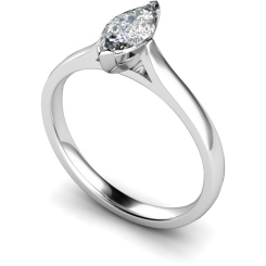 HRM346 Marquise Solitaire Diamond Ring - white