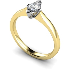 HRM362 Marquise Solitaire Diamond Ring - yellow