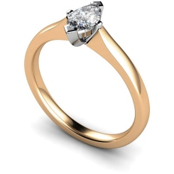 HRM362 Marquise Solitaire Diamond Ring - rose