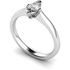 HRM362 Marquise Solitaire Diamond Ring - white