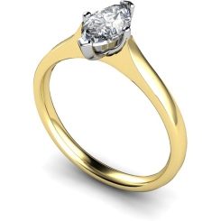 HRM384 Marquise Solitaire Diamond Ring - yellow