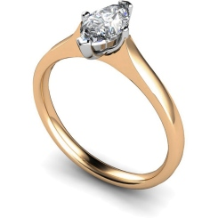 HRM384 Marquise Solitaire Diamond Ring - rose