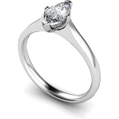 HRM384 Marquise Solitaire Diamond Ring - white