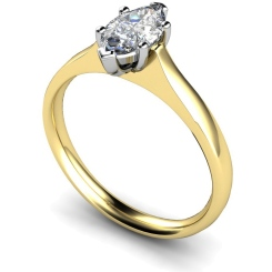 HRM385 Marquise Solitaire Diamond Ring - yellow