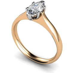HRM385 Marquise Solitaire Diamond Ring - rose