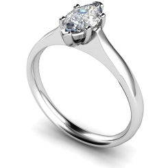 HRM385 Marquise Solitaire Diamond Ring - white
