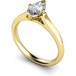 HRM397 Marquise Solitaire Diamond Ring - yellow