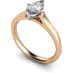 HRM397 Marquise Solitaire Diamond Ring - rose
