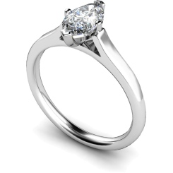 HRM397 Marquise Solitaire Diamond Ring - white