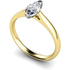 HRM437 Marquise Solitaire Diamond Ring - yellow