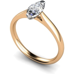HRM437 Marquise Solitaire Diamond Ring - rose