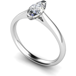 HRM437 Marquise Solitaire Diamond Ring - white