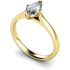 HRM438 Marquise Solitaire Diamond Ring - yellow