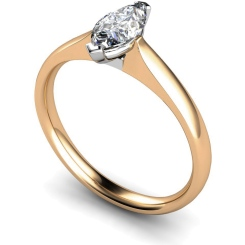 HRM468 Marquise Solitaire Diamond Ring - rose