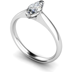 HRM468 Marquise Solitaire Diamond Ring - white