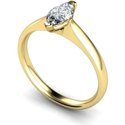 HRM468 Marquise Solitaire Diamond Ring - yellow