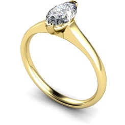 HRM471 Marquise Solitaire Diamond Ring - yellow