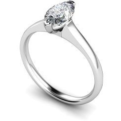 HRM471 Marquise Solitaire Diamond Ring - white