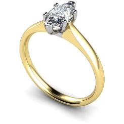 HRM474 Marquise Solitaire Diamond Ring - yellow