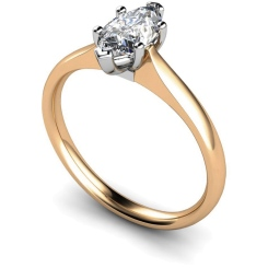 HRM474 Marquise Solitaire Diamond Ring - rose
