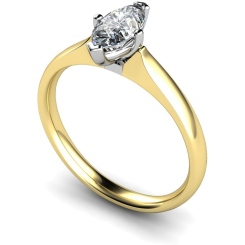 HRM476 Marquise Solitaire Diamond Ring - yellow